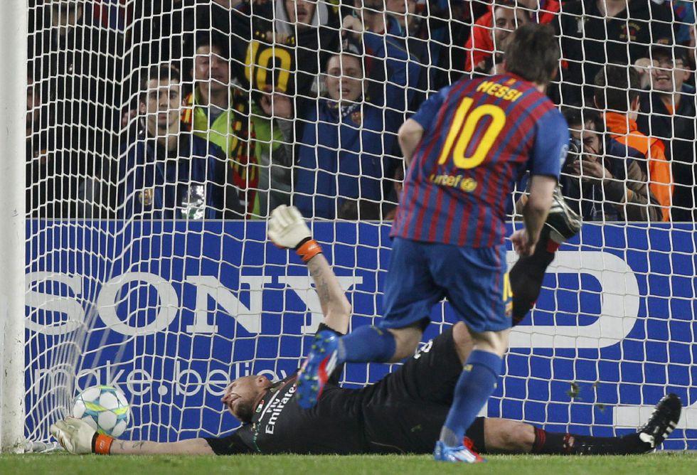 Messi impone nuevo récord de goles en la Champions